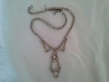 GOREGEOUS Wedding Piece La Rel Drippy Rhinestone Necklace