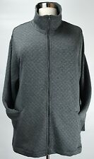 COMFY CATHERINES WOMEN'S GRAY LONG SLEEVE QUILTED SOFT JACKET PLUS Sz 5X 34/36W