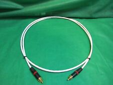 2 FT SILVER PLATED AUDIOPHILE INTERCONNECT SUBWOOFER VIDEO DIGITAL CABLE.