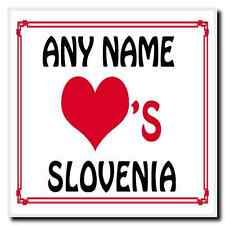 Love Heart Slovenia Personalised Coaster