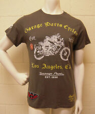 Christian Audigier Garage Parts Motor Cycle Racer Olive T-Shirt (L) NEW