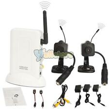 2.4GHz Receiver Wireless 2 Mini Home Wifi CCTV Security Camera Full Kit System