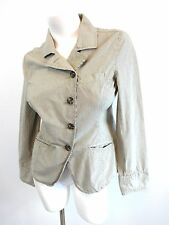 CONVERSE ONE STAR WOMENS COTTON STRIPED GRAY CASUAL JACKET SIZE S