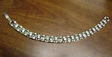 """7 AND 1/2 """" LONG  MENS/WOMANS .925 STERLING SILVER LINKED  BRACELET"""