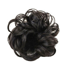 Natural Women Wavy Curly Dish Hair Bun Extension Hairpiece Scrunchie Chignon