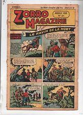ZORRO MAGAZINE nouvelle série n°21. Le ravin de la mort. 1952.