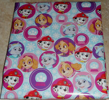 PAW PATROL SNOWFLAKES USA CHRISTMAS Wrapping PAPER 20 SQ FT FOLDED