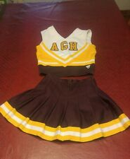 Vintage Cheerleader Outfit Uniform Skirt & Tank 2 Pc Varsity Brand 24in waist
