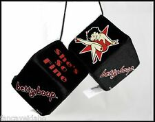 Betty Boop Star She's So Fine Rear View Mirror Fuzzy Dice Car Toyz - FREE Ship!
