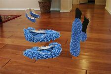 2 Pairs, EZ Clean Dust Mop Slippers Quick Floor Polishing Cleaning Socks No Mess