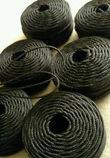 6 USA made High quality 1mm Black waxed twisted cord string jewelry crafting