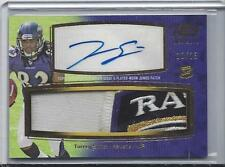 TORREY SMITH 2011 TOPPS PRIME LEVEL IV JUMBO 4 COLOR LOGO PATCH AUTO RC #D 10/15