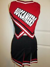 "BUCCANEES Real High School Cheerleader Uniform Cheer Outfit 34"" Top 26 Skirt"