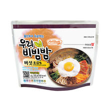 [3 PACK] MRE READY TO EAT KOREAN BIBIMBAP INSTANT RICE WITH VEGETABLE & MUSHROOM