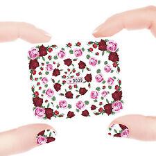 Nail Art Manicure Water Transfer Decal Sticker Flowers Pattern D39