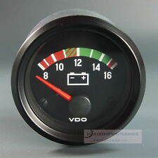 VDO Voltmeter instrumento gauge * LED Edition * 12v 52mm cabina International
