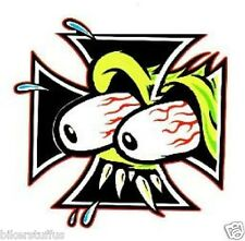 RAT FINK IRON CROSS STICKER SML