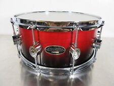 "DW PDP Pacific MX Series Snare Drum 14 X 6"" Maple Shell Red To Black Fade 10 Lug"
