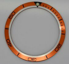 BEZEL INSERT OMEGA PLANET OCEAN WATCH ORANGE BLACK PART GENERIC DIAL PART