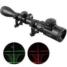 3-9X 40mm Red /Green mil-dot Sight illuminated Optics Hunting Sniper Scope OT8G