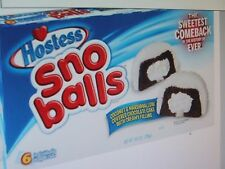Hostess Sno Balls Coconut & Marshmallow Cakes 10.5 oz