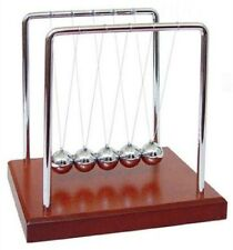Newtons Cradle: Wooden Balance Balls Physics Science 5 1/2 Pendulum Desk Top