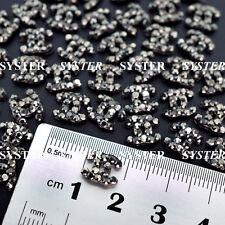 10 pcs Alloy Jewelry 3D DIY Rhinestone Nail Art Glitters Slices #SJ-106