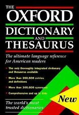 The Oxford Dictionary and Thesaurus (1996, Hardcover)