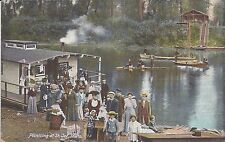 St. Joe Idaho, River boat, Houseboat, Antique Postcard printed in Germany