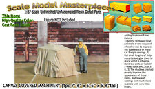 CANVAS COVERED MACHINERY/FLATCAR Load (1pc) Scale Thomas Yorke/SMMPR7 1;87/HOn30