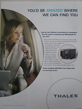 10/2006 PUB THALES TOPFLIGHT SATCOM INTERNET CELLPHONE CONNECTIVITY EFB AD
