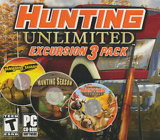 Hunting Unlimited Excursion 3 Pack - Hunter Safari Season Unlimited Games SEALED