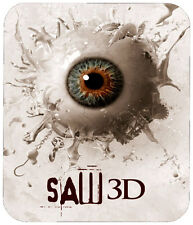 SAW 3D  MOUSE PAD - 1/4 IN. TV HORROR MOVIE MOUSEPAD