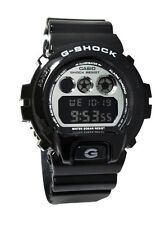 Casio DW6900NB-1 G-Shock White Metallic Mirror Dial Black Men Resin Watch NEW