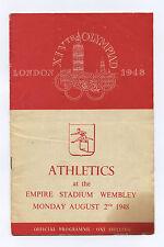 Orig.PRG    Olympische Spiele LONDON 1948  - 02.08. // Leichtathletik  !!   TOP