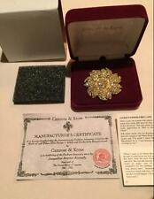 Jacqueline Kennedy Camrose & Kross Sunflower Brooch NEW WITH TAGS
