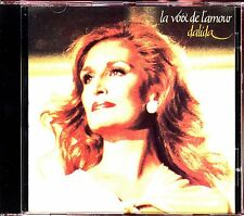 DALIDA - LA VOIX DE L'AMOUR -  CARRERE 1988 CD ALBUM [342]