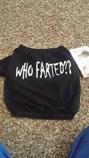 Nwt Doggieduds Pet Fashion Puppy Dog Clothes T-shirt Who Farted Black Small