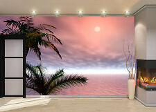 Sunrise. Palm Wall Mural Photo Wallpaper GIANT WALL DECOR PAPER POSTER FREE GLUE
