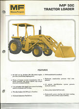 MASSEY FERGUSON TRACTOR LOADER MF 50C BROCHURE CATALOG