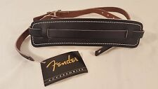 Fender Standard Vintage Leather Guitar Strap Black