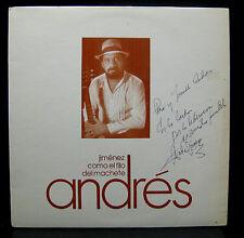 Andres Jimenez Como El Filo Del Machete LP VG+ DL-005 Signed 1971 Puerto Rico