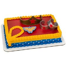 Wonder Woman Cake Topper Girl Birthday Party Decorations