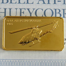 BELL AH-1G HUEYCOBRA GOLD PLATED PROOF INGOT - jane's medallic register