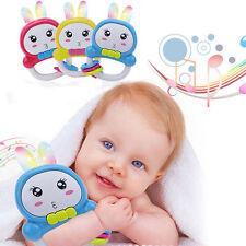 Baby Rassel Rabbit Kaninchen Rassel Beleuchtung Musik Spielzeug Geschenk FS