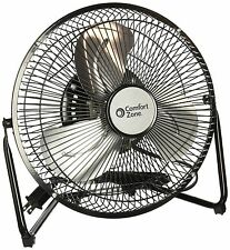 9-Inch 3 Speed High Velocity Cradle Industrial Fan Tilt Air Mover Metal Steel