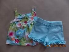 NWT Girl's Gymboree Rainbow Cabana flower tank top shirt & shorts ~ 3-6 months