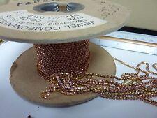 By the foot Swarovski rhinestone chain Lt. Rose 2mm craft jewelry repair