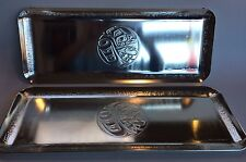 1 Of 2 Native Haida Large Silver Serving Tray Signed Clarence Wells Canada
