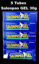 5 Tubes of 30g SALONPAS GEL - Muscle Joint Sprains Bruises Back Pain Relief